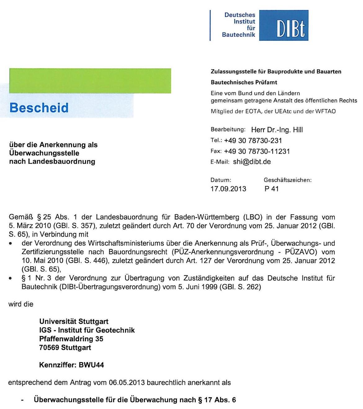 Lieblings Verpressanker und Mikropfähle | Institut für Geotechnik &VR_83