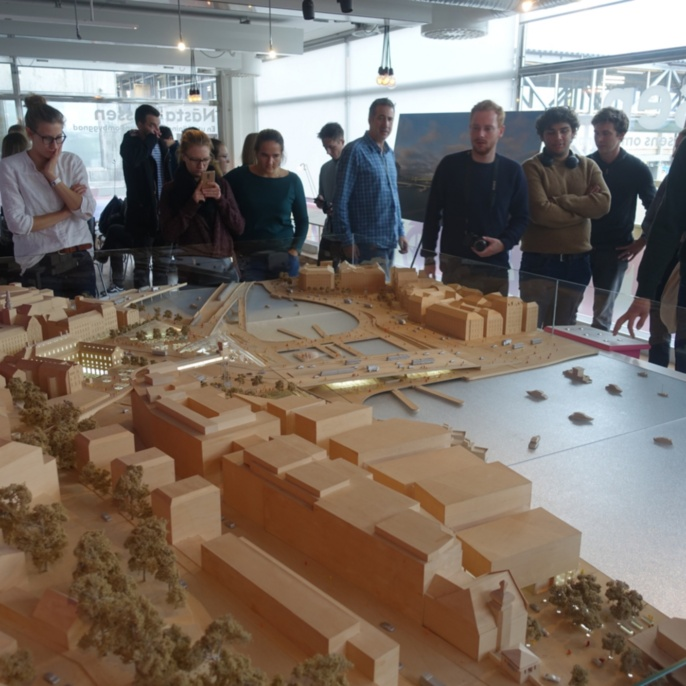 Modell des zukünftigen Verkehrsknotenpunkts Slussen