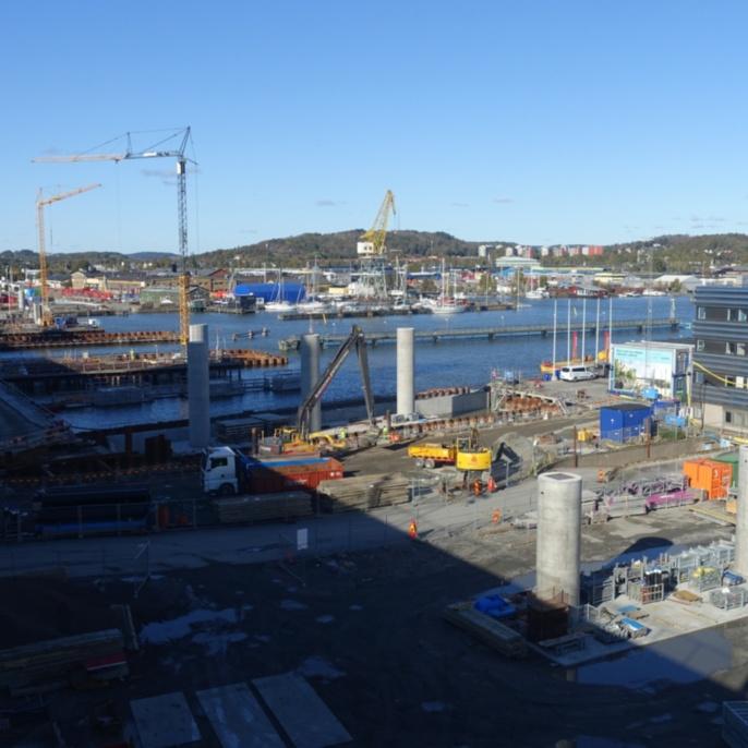 Baustelle der Hising Bridge, Göteborg