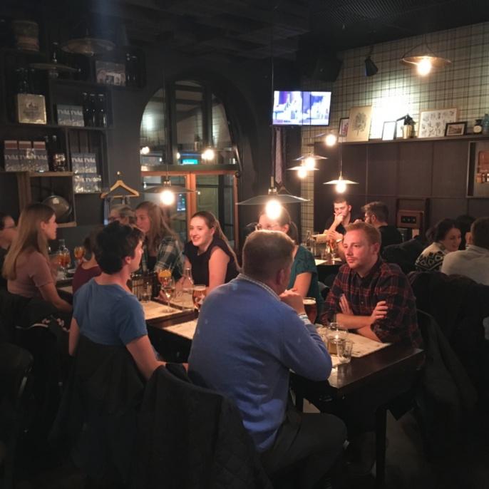 Gemeinsames Abendessen in Göteborg