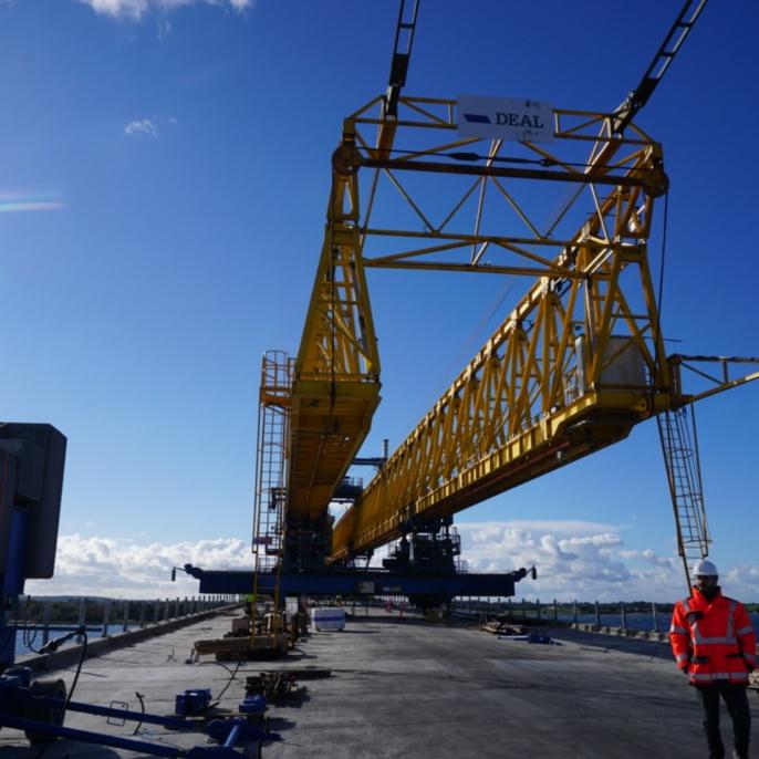 Fjordforbindelsen Frederiksssund, Vorschubrüstung