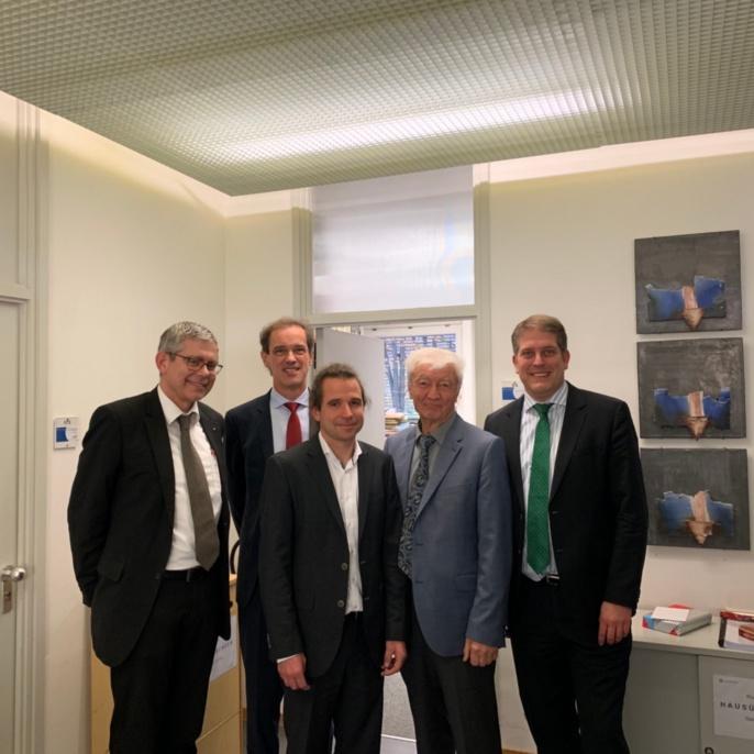 Herr Professor Adam, Herr Professor Leistner, Herr Buhmann, Herr Professor Westrich, Herr Professor Moormann (v. l.)